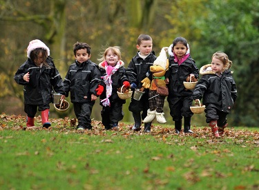 Forest school is an inspirational process that offers a range of